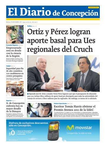 Ortiz y Pérez logran aporte basal para Ues regionales del Cruch