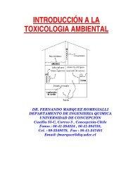introducción a la toxicologia ambiental - Universidad de Concepción