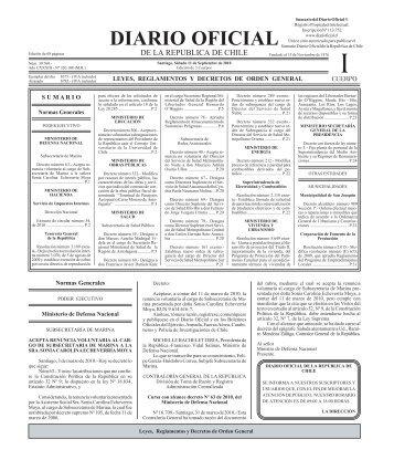 Diario Oficial de la República de Chile - Universidad de Concepción