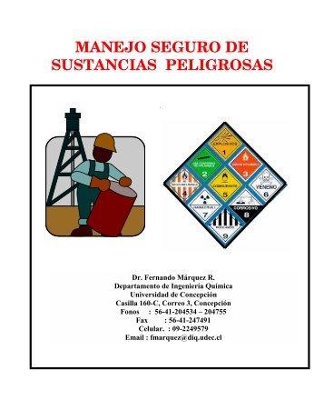 manejo seguro de sustancias peligrosas - Universidad de Concepción