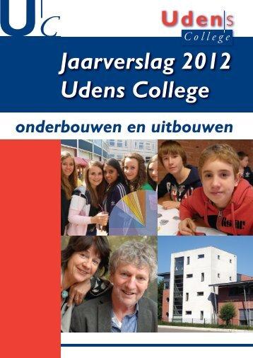 Jaarverslag 2012 Udens College