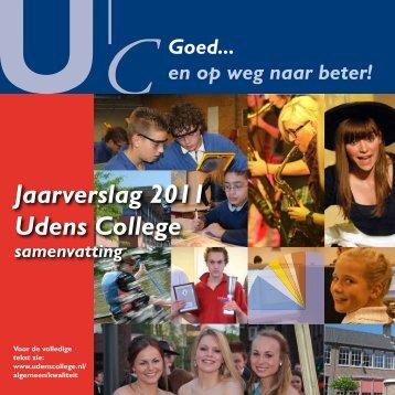 Jaarverslag 2011 Udens College