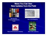 New Updates from the Field - Underage Drinking Enforcement ...