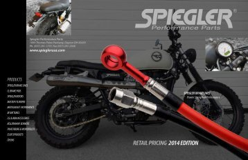 SPEIGGLER PERMORMANCE PARTS RETAIL PRICING 2014 EDITION