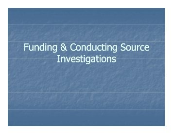 Funding & Conducting Source Investigations - Underage Drinking ...