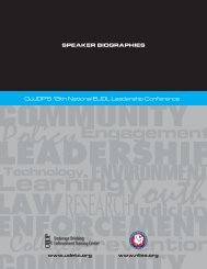 Speaker Biographies - Underage Drinking Enforcement Training ...