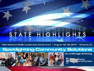 2011 State Highlights - Underage Drinking Enforcement Training ...