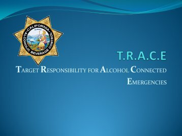 target responsibility for alcohol connected emergencies - Underage ...