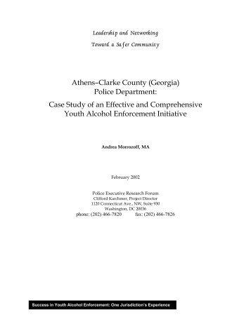 Athens–Clarke County (Georgia) Police Department - Underage ...