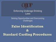 False Identification & Standard Carding Procedures - Underage ...