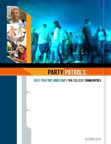 Party Patrols - Underage Drinking Enforcement Training Center