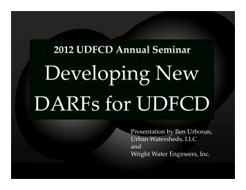 Developing New DARFs for UDFCD