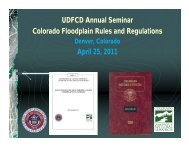 Colorado Floodplain Rules and Regulations