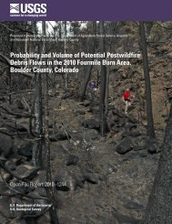Probability and Volume of Potential Postwildfire Debris Flows in the ...