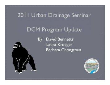 DCM Program Update - Urban Drainage and Flood Control District