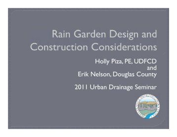 Rain Garden Design and Construction Considerations