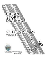 Urban Storm Drainage Criteria Manual – Volumes 1 and 2