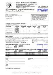 Anmeldeformular AUSSTELLER, SDT13 - Union Deutscher ...