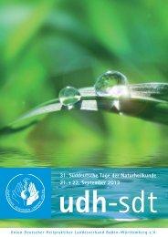 SDT Kongress-Broschüre 2013 - Union Deutscher Heilpraktiker