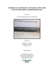 Hydraulic Efficiency of Grate and Curb Inlets - Urban Drainage and ...