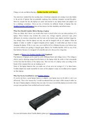 Things to Look out Before Buying a Toshiba Satellite A105 Battery.pdf