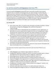 Le service psycho-pédagogique (service PP) - Udir.no
