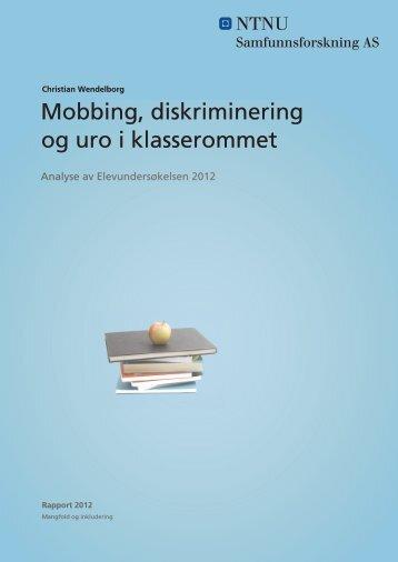 Mobbing, diskriminering og uro i klasserommet - Udir.no