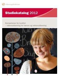 Studiekatalog 2012 - Udir.no