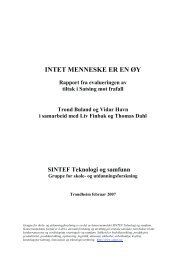 Rapport fra evalueringen av tiltak i Satsing mot frafall - Udir.no