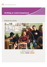 Utvikling av sosial kompetanse - veileder for skolen - Udir.no