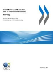 OECD Reviews of Evaluation and Assessment in Education - Udir.no