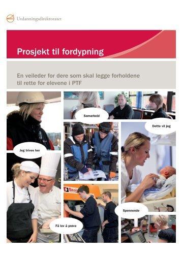 Veileder for prosjekt til fordypning - Udir.no