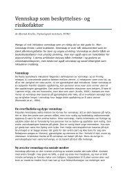 Vennskap som beskyttelses- og risikofaktor - Udir.no