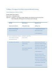 Vedlegg 2: Prinsipper for effektiv matematikkundervisning - Udir.no