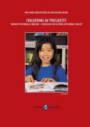 Evaluering av prosjektet - minoritetsspråklige foreldre - en ... - Udir.no