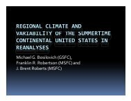 REGIONAL CLIMATE AND VARIABILITY OF THE SUMMERTIME ...