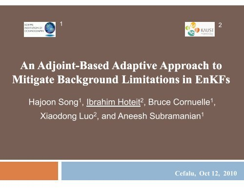 An adjoint-based adaptive ensemble Kalman filter - NASA Global ...