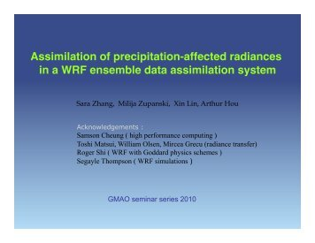 View Slides - NASA Global Modeling and Assimilation Office
