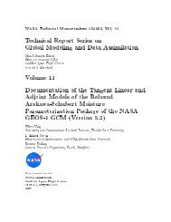 Technical Report Series on Global Modeling and Data Assimilation ...
