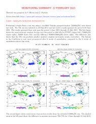 monitoring summary: 22 february 2013 - NASA Global Modeling and ...