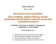 Soil moisture data assimilation - NASA Global Modeling and ...