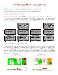 monitoring summary: 09 november 2012 - NASA Global Modeling ...
