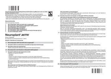 Neuroplant® AKTIV - Apotheke im Lyzeum eK