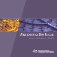 Sharpening focus: managing performance - Australian Public ...