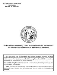 North Carolina Withholding Forms and Instructions for Tax Year 2013