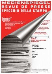 • Alu-Kreativ Alu créatif Creatività in alluminio • IGSU ... - Igora