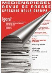 Recycling-map.ch Alu-Kreativ Alu créatif Creatività in ... - Igora