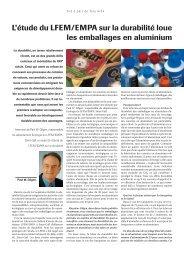 L'étude du LFEM/EMPA sur la durabilité loue les emballages ... - Igora