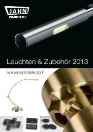 Leuchten & Zubehör 2013 - Jahn Pianoteile
