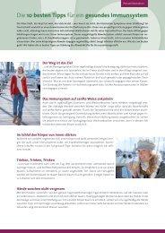 Die 10 besten Tipps fuer ein gesundes Immunsystem - MedizInfo